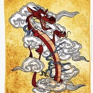 Disney Mulan - Mushu the dragon plush blanket